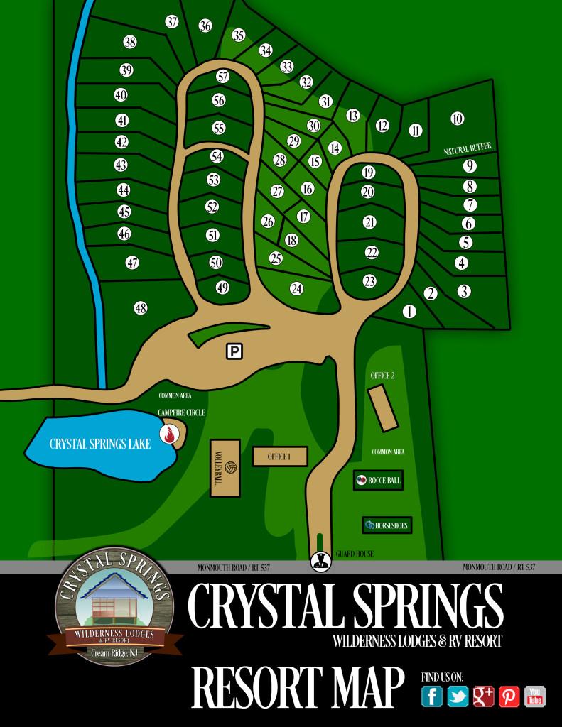 Crystal Springs Resorts Map